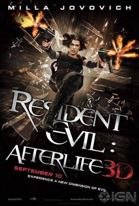 Resident Evil Afterlife One Sheet